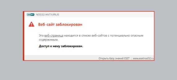 ваш сайт заблокирован